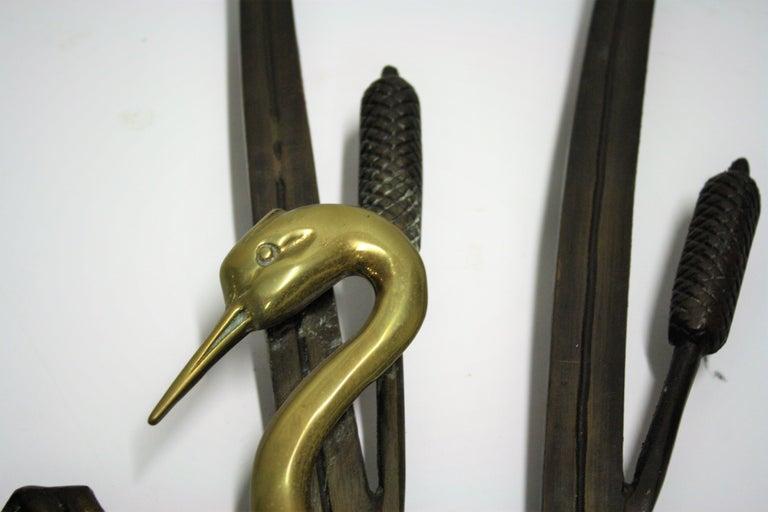 Belgian Vintage Brass Bird Sculpture, 1970s For Sale