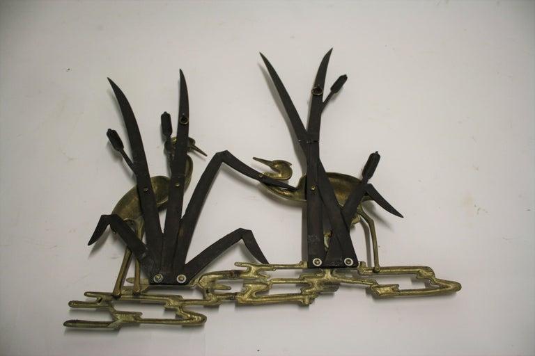 Vintage Brass Bird Sculpture, 1970s For Sale 1