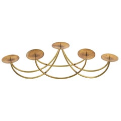 Vintage Brass Candletree by Harald Buchrucker, Germany, 1950s