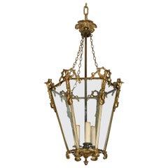 Vintage Brass Chinoiserie Lantern