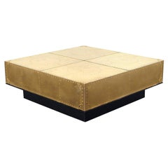 Vintage Brass Coffee Table by Sarried