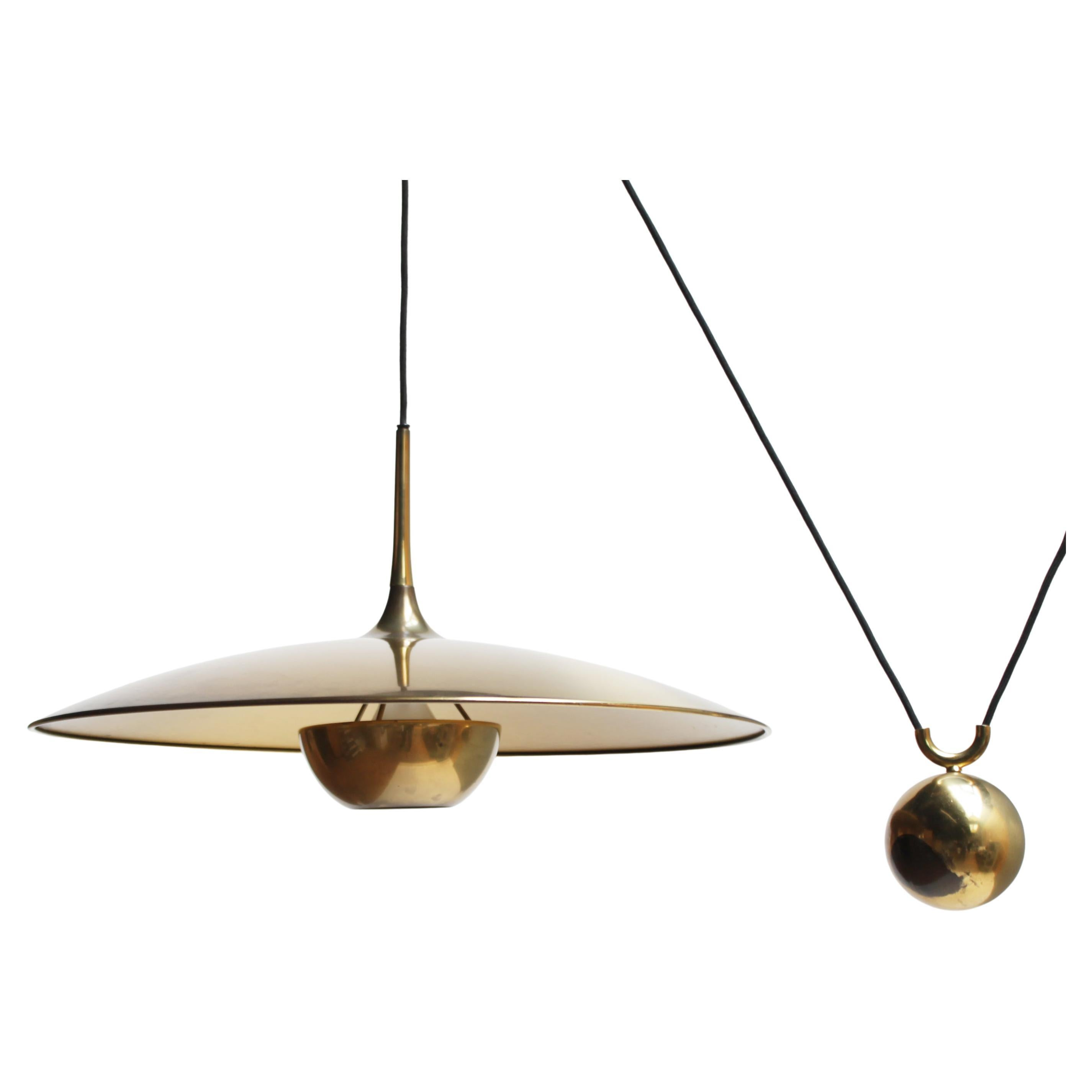 Vintage Brass Counterweight Pendant 'Onos 55' by Florian Schulz, Germany