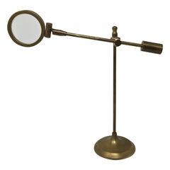 Vintage Brass Desktop Adjustable Magnifying Glass