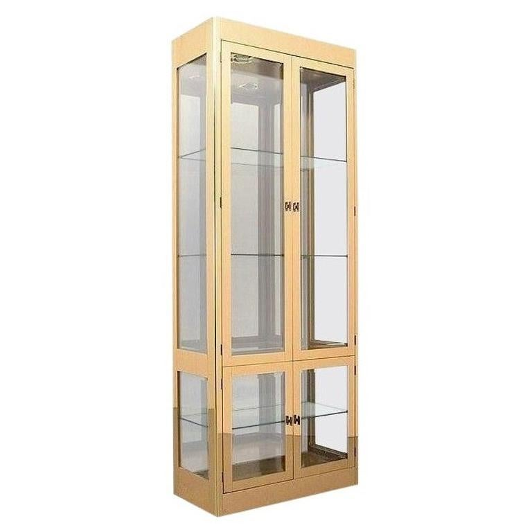 Vintage Brass Display Cabinets by Mastercraft