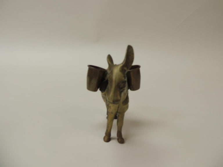 Indian Vintage Brass Donkey Toothpicks Holder For Sale