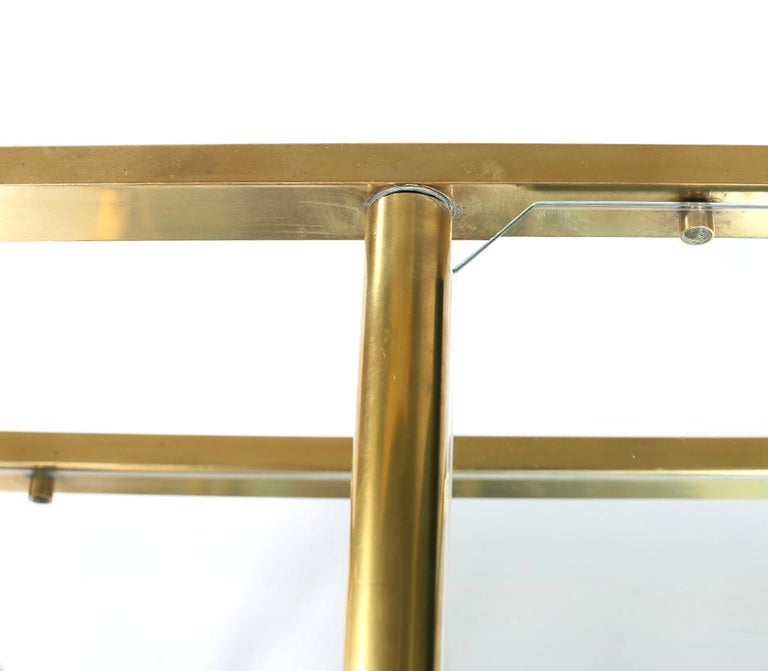 Vintage Brass / Glass Three Tiered Bar Cart  For Sale 5