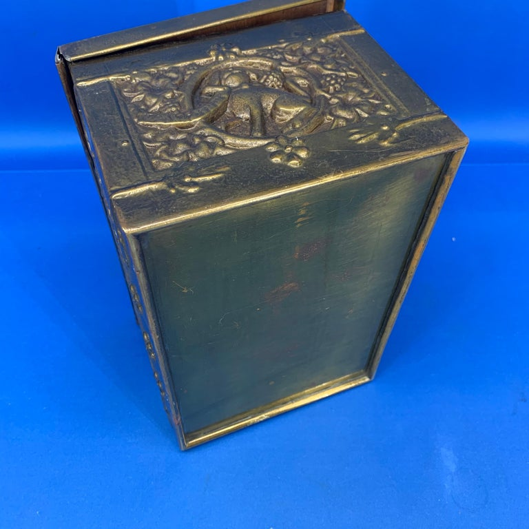 Vintage Brass Jewelry Box With Religious Scenes For Sale 8