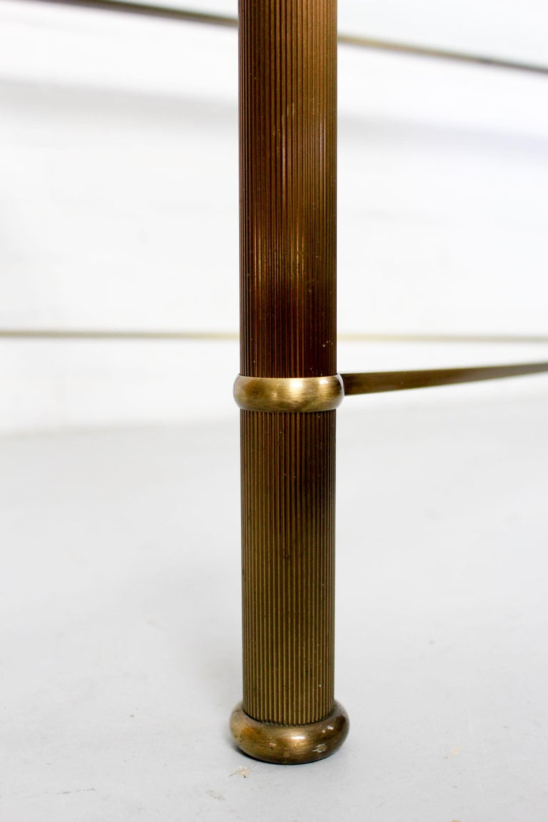 Vintage Brass-Look and Facet Glass Side Table, 1960s In Good Condition For Sale In Appeltern, Gelderland