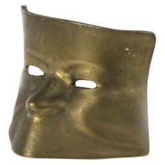 Vintage Brass Mask, Italy, Half of the 20th Century