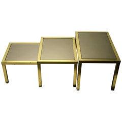 Vintage Brass Nesting Tables, 1960s