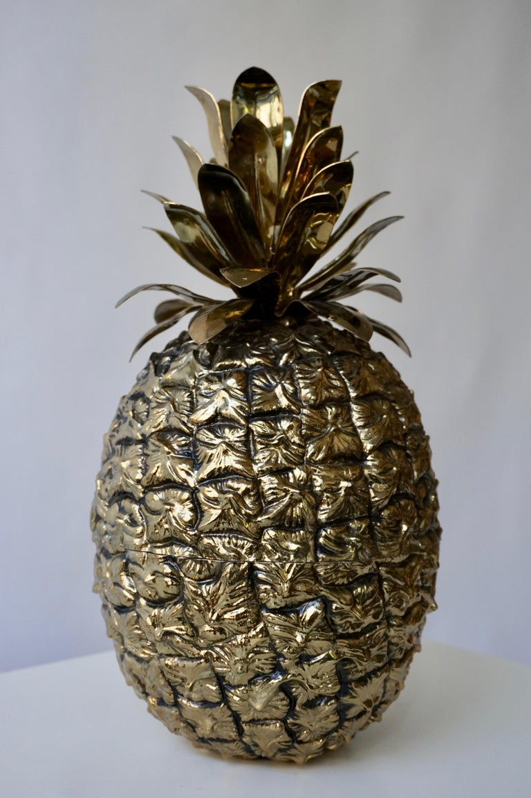 Vintage Brass Pineapple Ice Bucket In Good Condition For Sale In Antwerp, BE