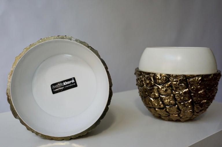 Vintage Brass Pineapple Ice Bucket For Sale 2