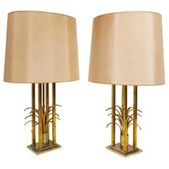 Vintage Brass Pineapple Table Lamps, 1970s