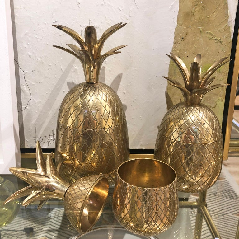 Vintage Brass Pineapples For Sale 1