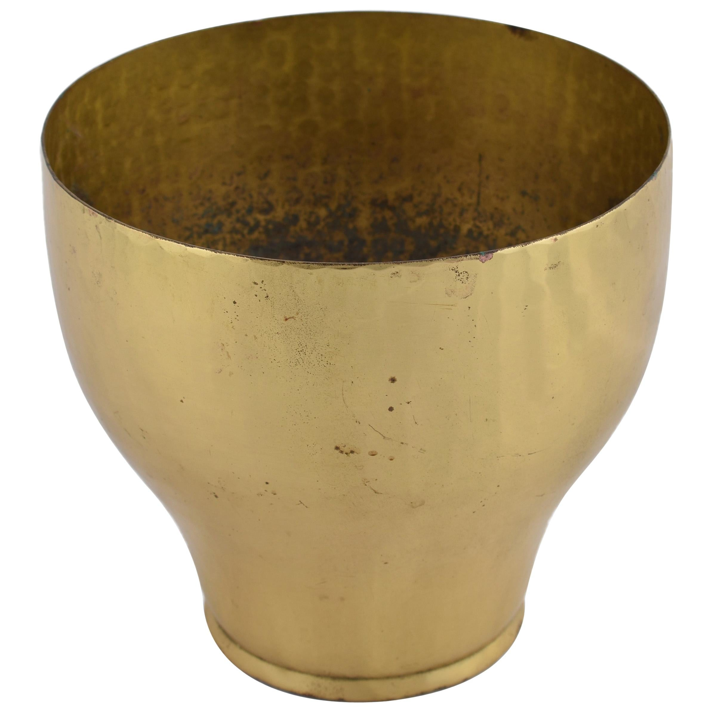 Vintage Brass Plant Pot by Eugen Zint, Germany, 1950s