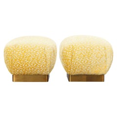 """Vintage Brass """"Poufs"""" by Marge Carson"""