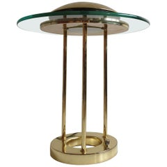 Vintage Brass 'Saturn' Desk Lamp by R. Sonneman for George Kovacs, circa 1980