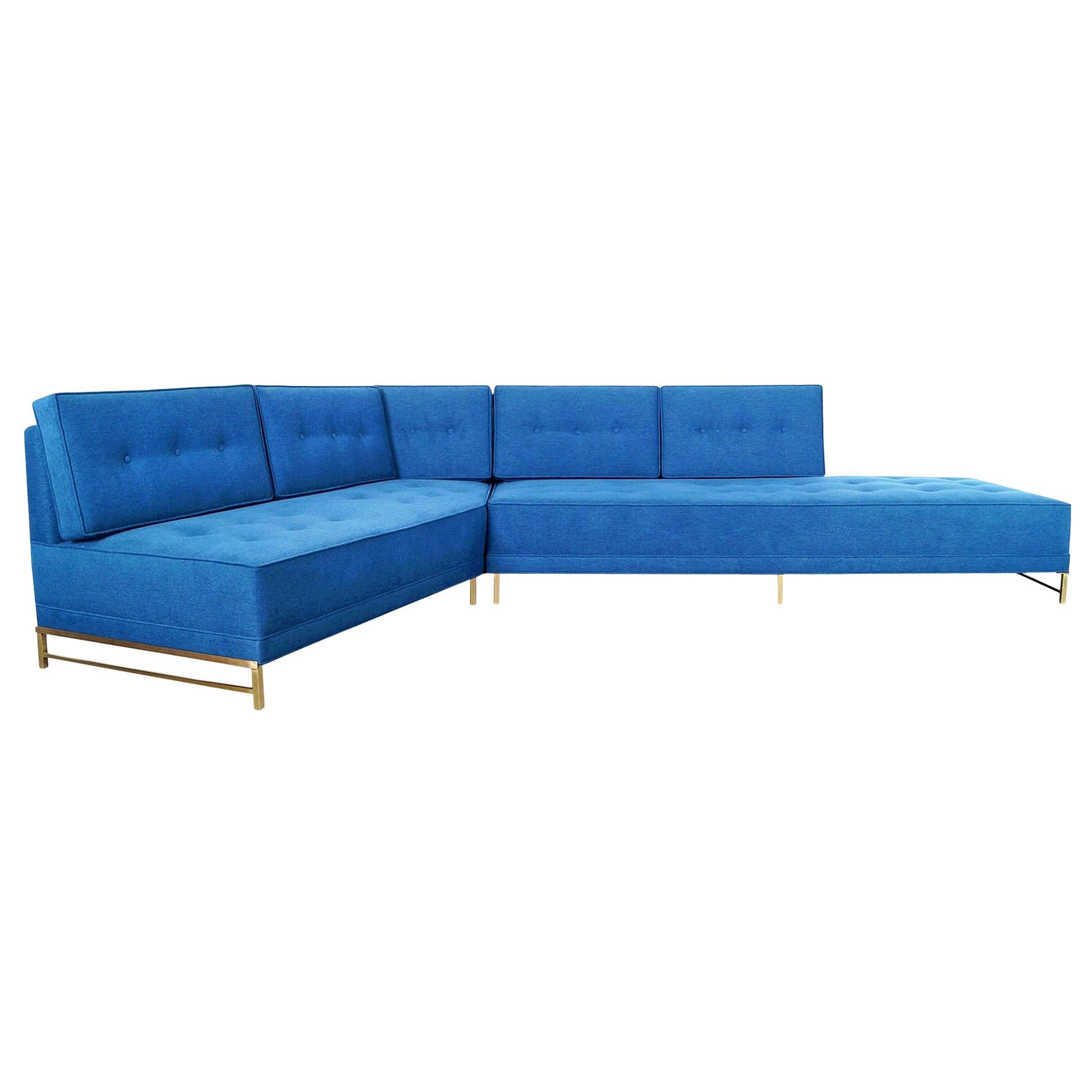 Vintage Brass Sectional Sofa by Paul McCobb for Directional