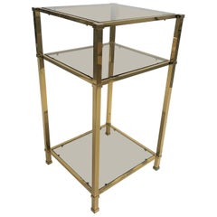 Vintage Brass Side Table, 1970s