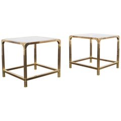 Vintage Brass Side Tables by Mastercraft