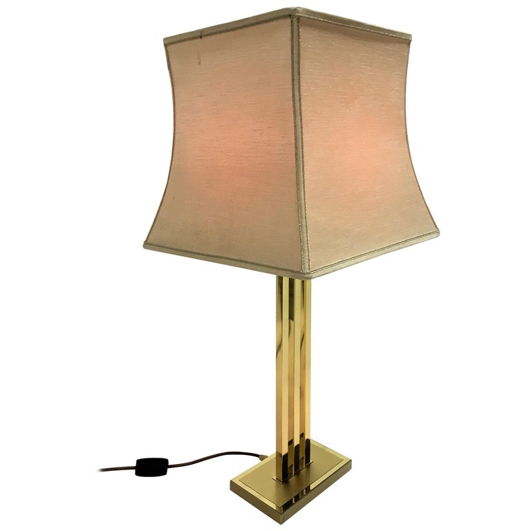 Beautiful table lamp by Willy Rizzo for Lusterie Deknudt.