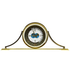Vintage Brass Time Zone Table Clock, Japan, 1960s