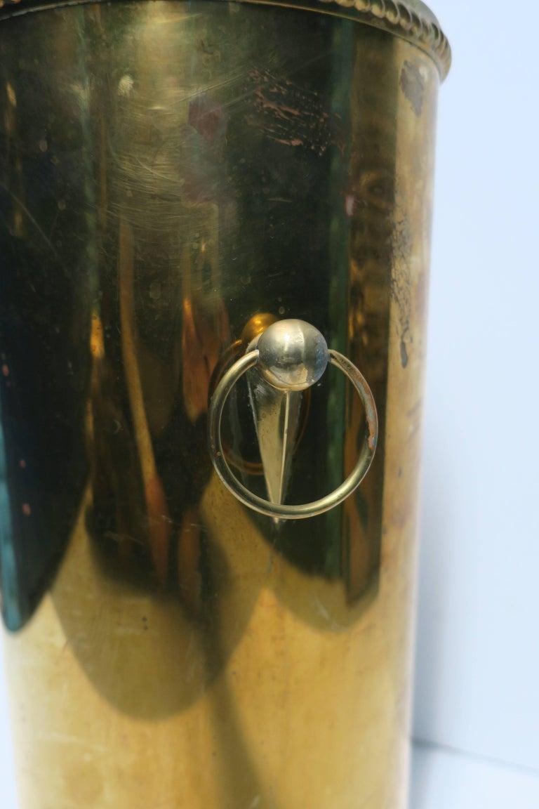 20th Century Vintage Brass Umbrella Stand For Sale