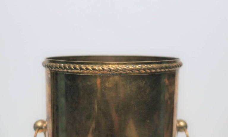Vintage Brass Umbrella Stand For Sale 2