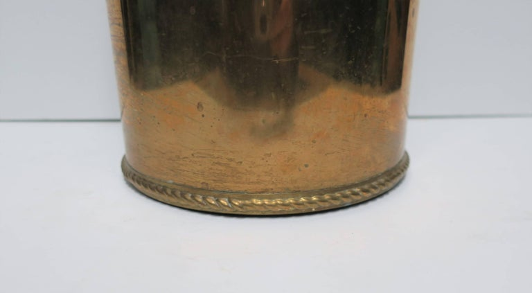 Vintage Brass Umbrella Stand For Sale 3