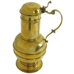 Vintage Brass Water Jug, Drinking Vessel, Stein, Scotland, 1930, 1966