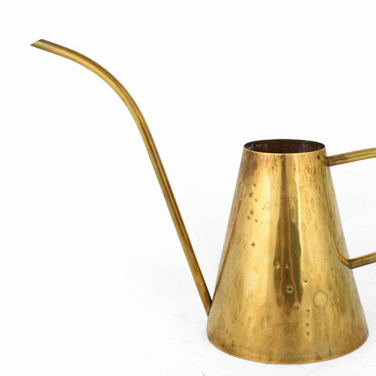 Vintage Brass Watering Can, Germany, 1950s In Good Condition For Sale In Roma, IT