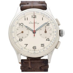 Vintage Breitling 2-Register Chronograph Watch, 1942