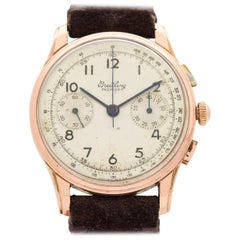 Vintage Breitling Premier Chronograph 18 Karat Rose Gold Watch, 1946
