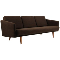 Vintage Børge Mogensen Three-Seat Sofa, Model 201, Original Hallingdal Wool
