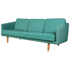 Vintage Børge Mogensen Three-Seat Sofa, Model 201, Original Hallingdal Wool