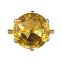 Vintage Bright and Beautiful Citrene Ring in 18ct Gold