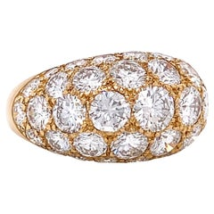 Vintage Brilliant Cut Diamond 18 Karat Yellow Gold Oscar Heyman Dome Ring