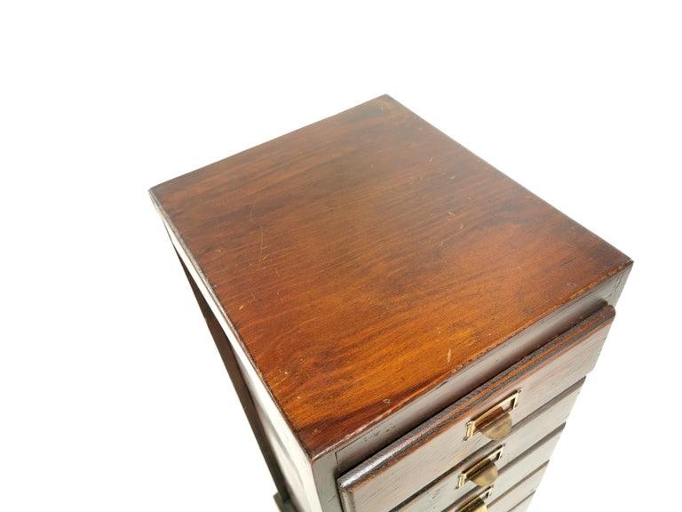 Vintage British Bank of Eight Drawers Filing Cabinet 1