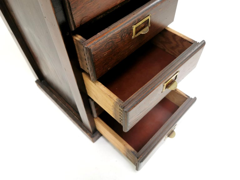 Vintage British Bank of Eight Drawers Filing Cabinet 3