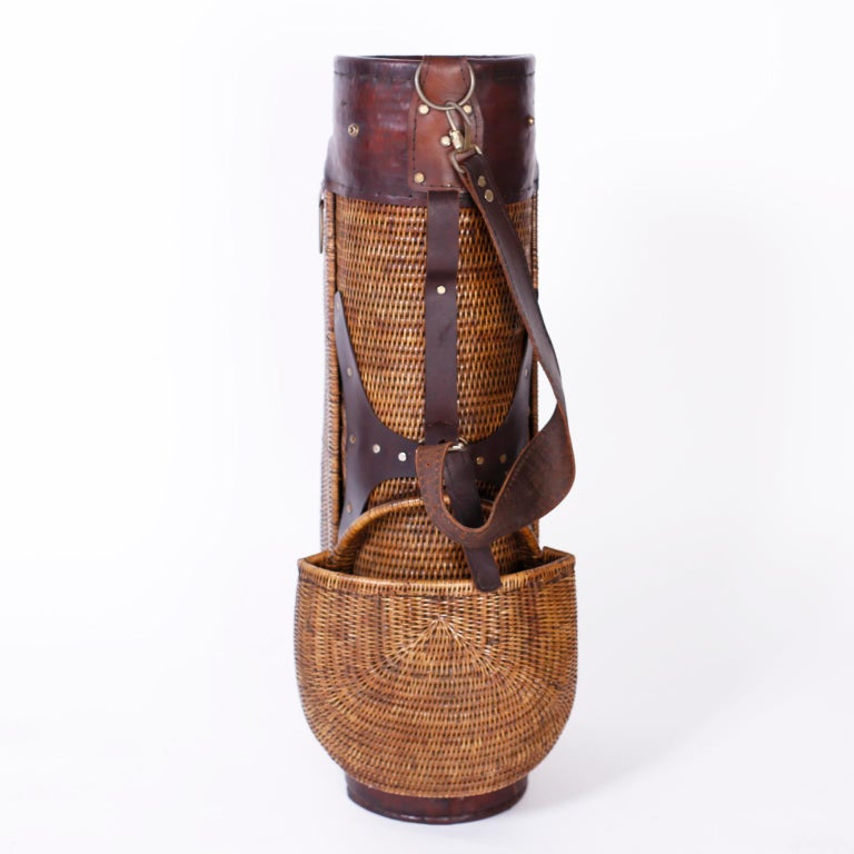 Anglo-Indian Vintage British Colonial Style Golf Bag For Sale
