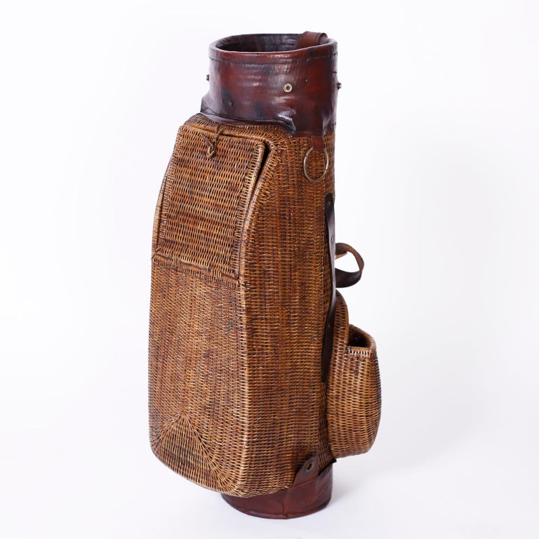 Indian Vintage British Colonial Style Golf Bag For Sale