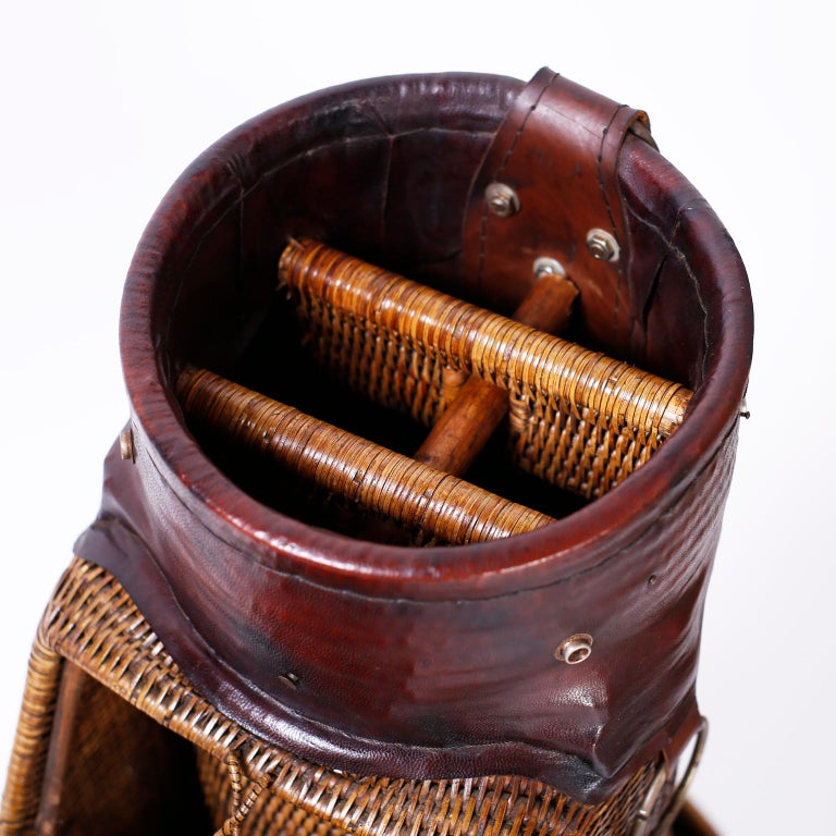 20th Century Vintage British Colonial Style Golf Bag For Sale