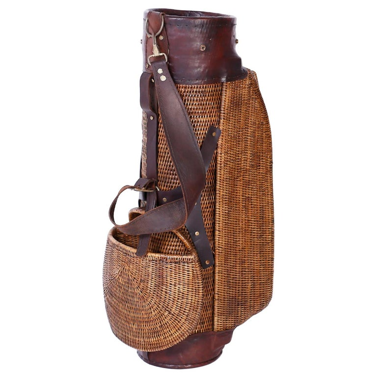 Vintage British Colonial Style Golf Bag For Sale