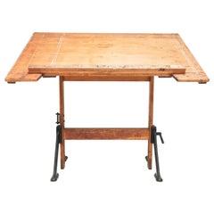 Vintage British Made Admel Architect Draughtsmans Desk Map Table