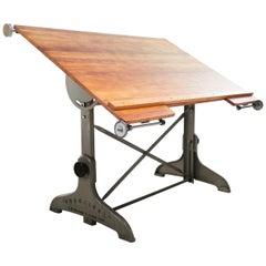 Vintage British Made Practical Architect Draughtsmans Desk / Table