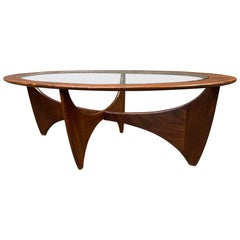 "Vintage British Mid-Century Modern Teak ""Astro"" Coffee Table by G Plan"