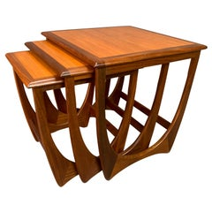 "Vintage British Mid-Century Modern Teak ""Astro"" Nesting Tables by G Plan"