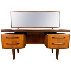 "Vintage British Mid-Century Modern Teak ""Fresco"" Vanity and Mirror by G Plan"