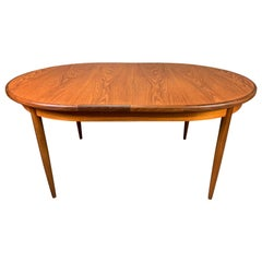 Vintage British Mid-Century Modern Teak Oval Dining Table by G Plan