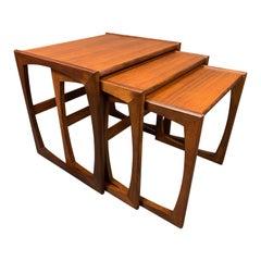 "Vintage British Mid-Century Modern Teak ""Quadrille"" Nesting Tables by G Plan"